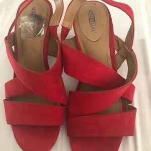 Memory foam red heels